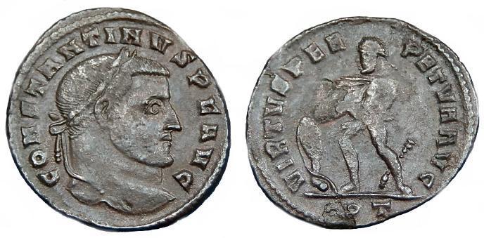 Ancient Coins - RARE CONSTANTINE I AE FOLLIS