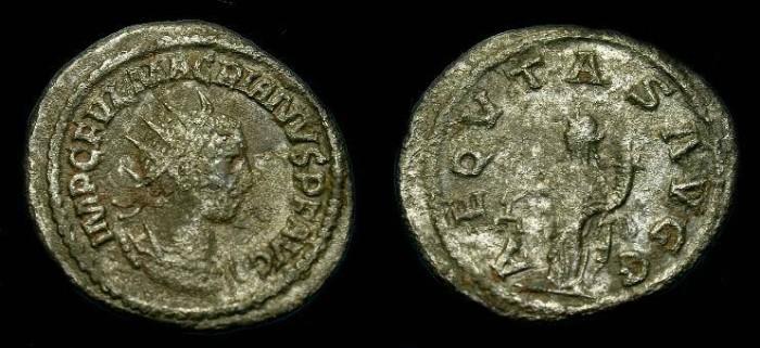 Ancient Coins - Macrianus.  Ar ant.  260-261 AD.  Rare.