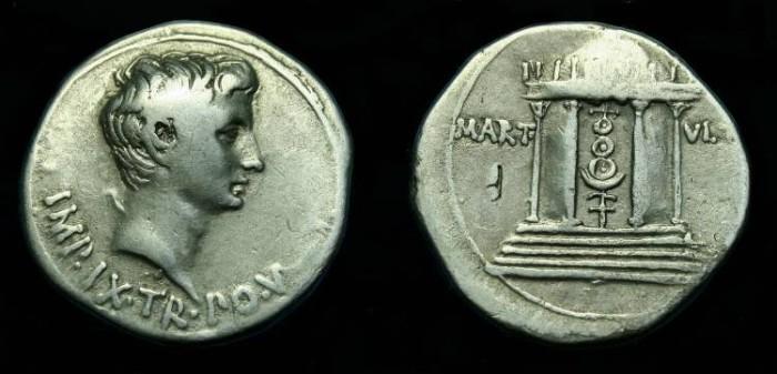 Ancient Coins - Augustus.  Ar cistophoric tetradrachm.  19-18 BC.  Scarce.