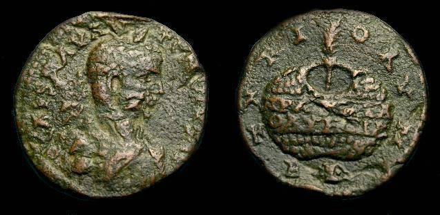 Ancient Coins - Elagabalus.  Phoenicia, Tyre.  Ae 26.  218-222 AD.  Scarce.