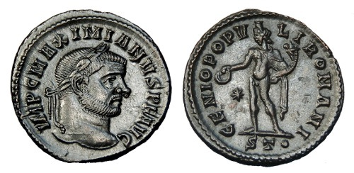 Ancient Coins - MAXIMIANUS AE FOLLIS. TICINUM MINT