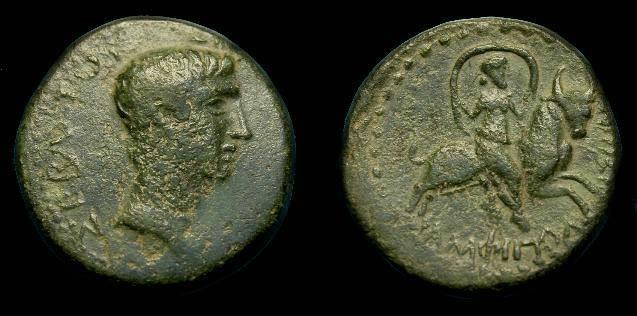 Ancient Coins - Tiberius.  Ae 20.  Amphipolis.  14-37 AD.