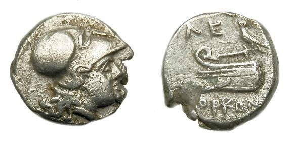 Ancient Coins - Ionia.  Lebedos.  Ar diobol.  C. 330-294 BC.
