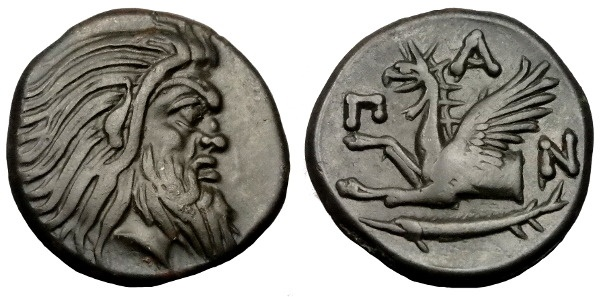 Ancient Coins - BOSPOROS PANTIKAPAION AE 20