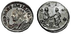 Ancient Coins - Maximianus Ae Antoninianus. Lugdunum Mint