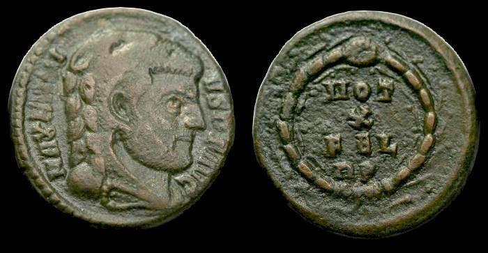 Ancient Coins - Maxentius.  Ae 3.  C. 310 AD.  RARE.