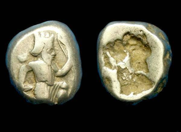 Ancient Coins - Persia.  Achaemenid.  Ar siglos.  C. 375-340 BC.  SCARCE.