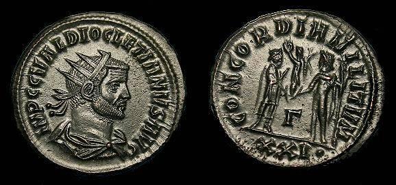 Ancient Coins - Diocletian.  Ae ant.  284-305 AD.  Super detail.