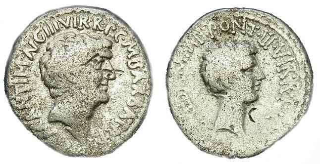 Ancient Coins - SCARCE  MARK  ANTONY  AR  DENARIUS