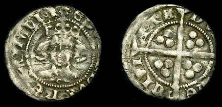 Ancient Coins - Edward III.  Ar penny.  1361-1369.  Good detail.
