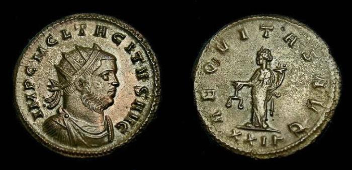 Ancient Coins - Tacitus.  Ae ant.  275-276 AD.  Nice portrait.