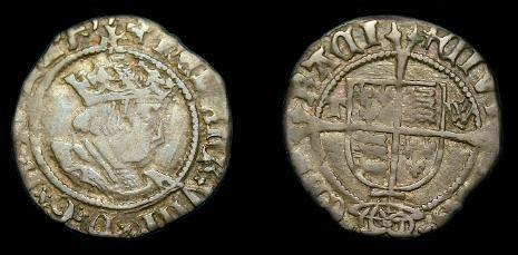 Ancient Coins - Henry VIII.  Ar halfgroat.  1526-1544.