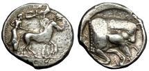 Ancient Coins - SICILY GELA AR TETRADRACHM