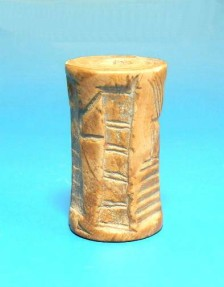 Ancient Coins - RARE AKKADIAN FOSSIL SHELL CYLINDER SEAL