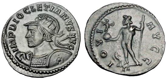 Ancient Coins - RARE DIOCLETIAN AE ANTONINIANUS LYON MINT