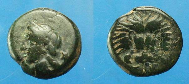 Ancient Coins - Samos.  Ionia.  Ae 11.  C. 4th century BC.  Scarce.