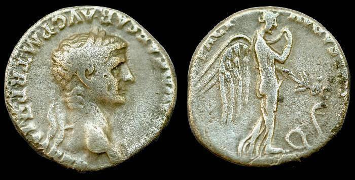 Ancient Coins - Claudius.  Ar denarius.  C. 51-52 AD.  RARE.  Super coin.