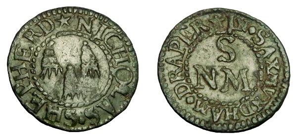 Ancient Coins - SUFFOLK SAXMUNDHAM AE 17TH CENTURY TOKEN