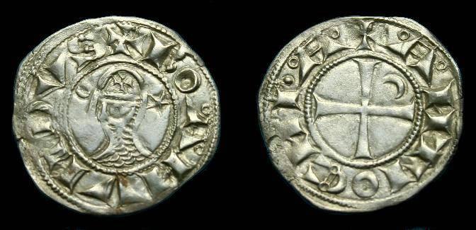 Ancient Coins - Bohemund III.  Ar denier.  1149-1201.  Super coin.