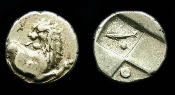 Ancient Coins - Thrace.  Chersonesos.  Ar hemidrachm.  C. 386-338 BC.  Nice coin.