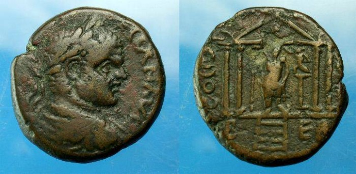 Ancient Coins - Caracalla.  Ae 23.  C. 198-217 AD.  Nice detail.