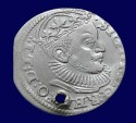 World Coins - Sigismund III 1587-1632, Silver 3 Groschen. Dated 1589