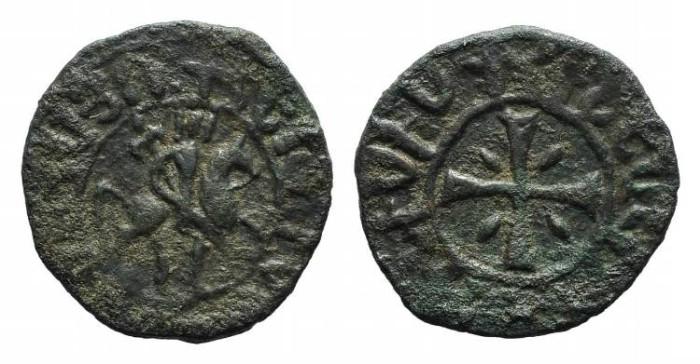 World Coins - Cilician Armenia. Hetoum I. AE Kardez. Cross. #9026