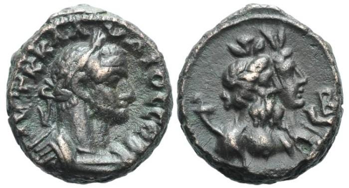 Ancient Coins - Egypt, Alexandria. Claudius Gothicus, Nilus and Euthenia #7142