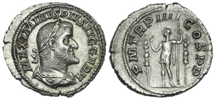 Ancient Coins - Maximinus I. AR Denarius Fides # PP 7276