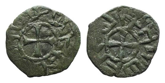 World Coins - RARE Cilician Armenia. Baronial. Roupen I. Cross. #9005
