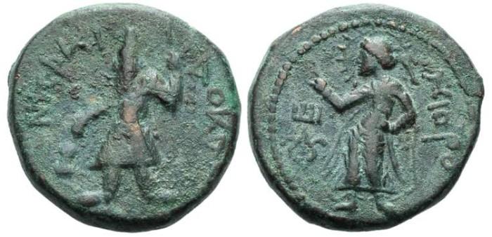 Ancient Coins - Kuschan Kanischka AE-Tetradrachm Taxila #7070