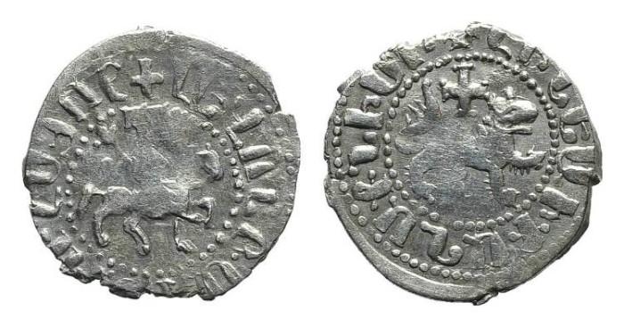 World Coins - Cilician Armenia. Levon the usurper. Takvorin. Lion. Cross. #9075