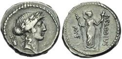 Ancient Coins - P. Clodius M.f. Turrinus. 42 BC. AR Denarius # S7187