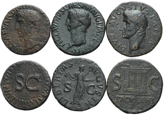 Ancient Coins - Lot of 3 Early Roman bronze coins #DH7054