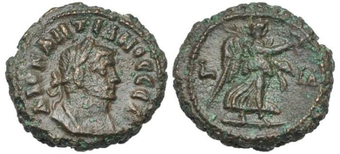 Ancient Coins - Egypt, Alexandria. Diocletianus, Nike, year 11 # DI 7260