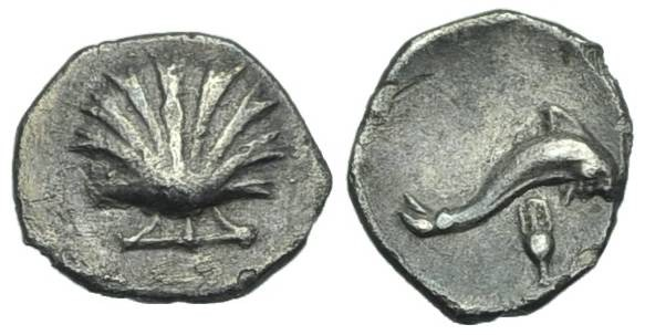 Ancient Coins - CALABRIA, Tarentum. ¼ Litra #S 7220