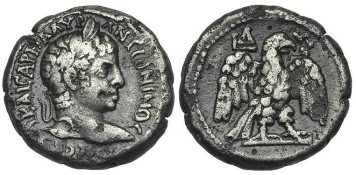 Ancient Coins - EGYPT, Alexandria. Elagabalus. BI Tetradrachm Eagle # DI7289