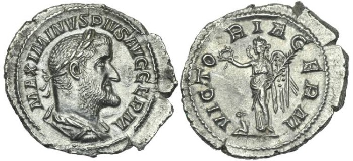 Ancient Coins - Maximinus I. AR Denarius Victoria # PP 7280