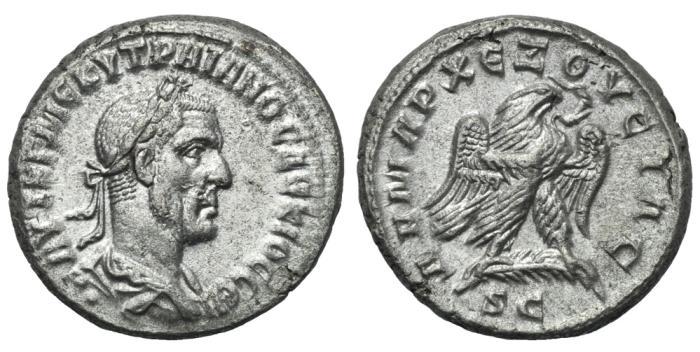 Ancient Coins - SYRIA  Antioch Trajan Decius Billon Tetradrachm # ST 0061