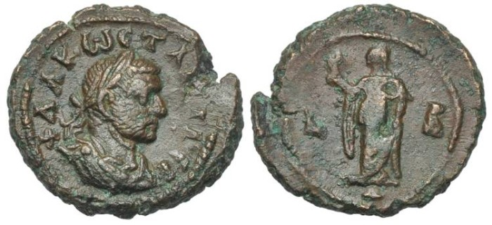 Ancient Coins - Egypt, Alexandria. Constantius I Caesar, Elpis, year 2, Vexilla # DI 7265