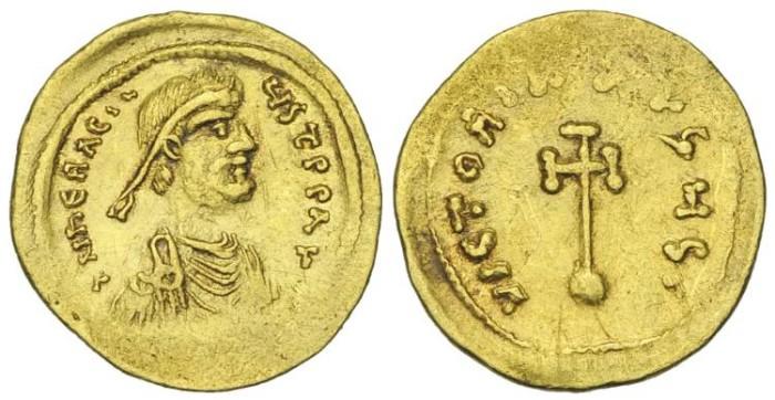 Ancient Coins - HERACLIUS.  AV Semissis Constantinople # DI 7235