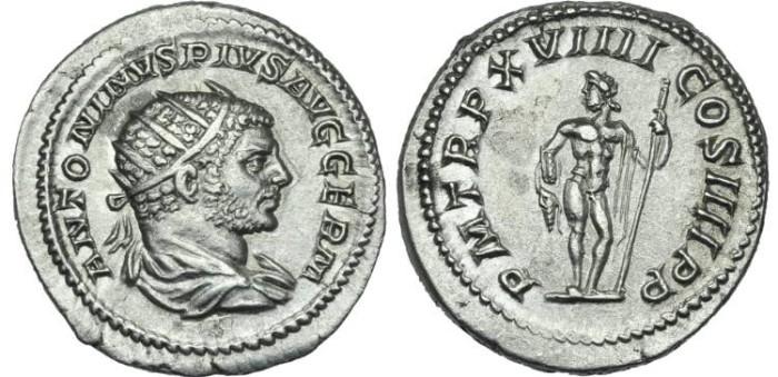 Ancient Coins - Caracalla. AR Antoninianus Jupiter # PP 7283