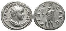 Ancient Coins - Gordian III, 238 - 244 AD, Silver Antoninianus, Virtus