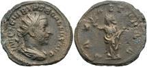 Ancient Coins - Trebonianus Gallus, 252 - 253 AD, Silver Antoninianus, Pax, Milan Mint