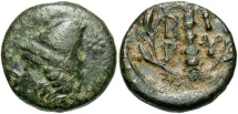 Ancient Coins - Troas, Birytis, 300 BC, Kaiberos and Club