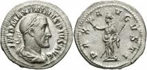 Ancient Coins - Maximinus I, 235 - 238 AD, Silver Denarius, Pax
