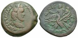 Ancient Coins - Antoninus Pius, 138 - 161 AD, Drachm of Alexandria, Zeus Seated on Eagle