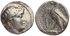 Ancient Coins - Seleukid Kings, Demetrios II, 129 - 125 BC, Silver Tetradrachm, Tyre Mint