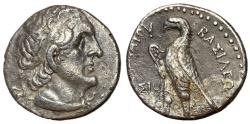 Ancient Coins - Ptolemaic Kings of Egypt, Ptolemy II, 285 - 246 BC, Silver Tetradrachm, Sidon Mint