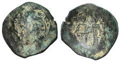 Ancient Coins - Alexius III Angelus - Comnenus, 1195 - 1203 AD, Billon Aspron Trachy with Christ